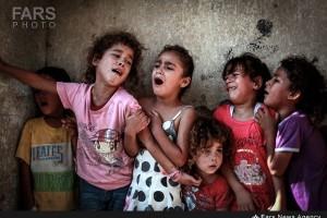 چشم های خونی کودکان غزه…؛حالم گرفته است…