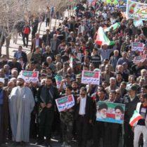 راهپیمایی باشکوه ۲۲ بهمن ۹۶ در منطقه داریون