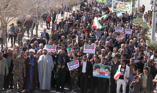 راهپیمایی باشکوه 22 بهمن 96 در منطقه داریون