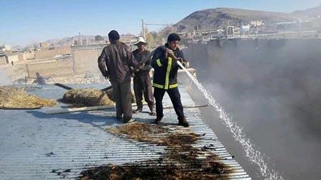 آتش سوزی رخ داده در دودج مهار شد+تصاویر