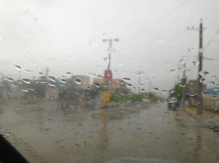 بارش باران رحمت الهی/داریون ابتدای بلوار کشاورز