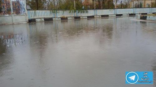 نزول باران رحمت الهی در داریون+عکس