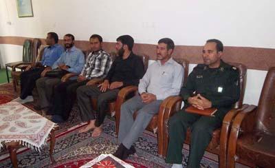 دیدار فرمانده جدید حوزه بسیج امام موسی کاظم(ع)با امام جمعه داریون