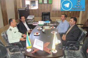 دیدار شهردار و اعضای شورای شهر داریون با فرمانده پاسگاه انتظامی دودج+عکس