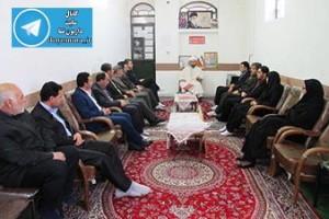 دیدار کارکنان شهرداری،شهردار و شورای شهر داریون با امام جمعه منطقه داریون+تصاویر