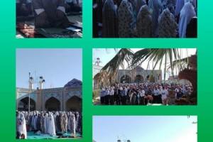 برگزاری نماز عید سعیدفطر در دیندارلو+تصاویر