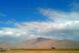 نمایی زیبا از کوه گدوان در یک روز پاییزی