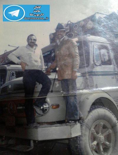 دفترچه خاطرات/عکسی قدیمی از رانندگان داریونی در گاراژ شاهین تهران