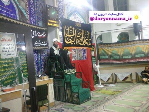 سخنرانی امام جمعه منطقه داریون در مسجد امام سجاد(ع) دیندارلو+عکس