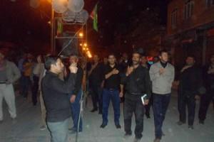 عزاداری شب سیزدهم محرم در داریون به روایت تصویر