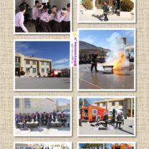برگزاری مانور اطفاء حریق و امداد و نجات در زلزله