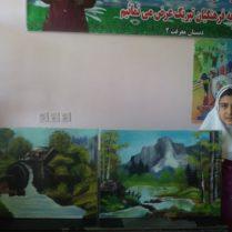 استعداد دانش آموز دیندارلویی در نقاشی و داستان نویسی+عکس