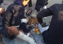 فیلمی جالب از حاشیه پیاده روی در مسیر نجف-کربلا/پایم شکسته اما…