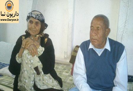 مرحومه بانو زلیخا قنبری در کنار همسرش حاج حسین اسدی
