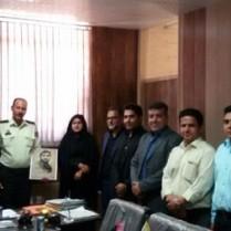 دیدار شهردار و شورای شهر داریون با فرمانده پاسگاه انتظامی دودج