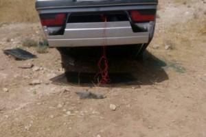 واژگونی پژو۴۰۵ در جاده شیراز-داریون+عکس