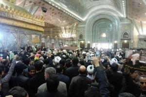 پیکر آیت الله هاشمی رفسنجانی در کنار امام آرام گرفت