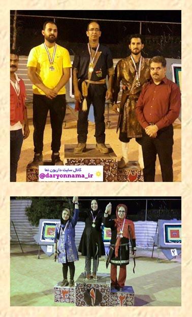 درخشش داریونی ها در مسابقات آزاد تیراندازی با کمان سنتی جام رمضان شیراز